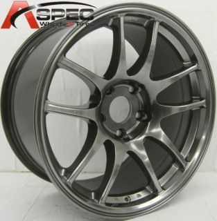 ROTA TORQUE 18X9.5 5X100 ET35 HYPER BLACK RIMS WHEELS