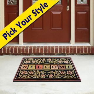 Rubber Door Mat Heavy Duty Entrance Entry Front Welcome Outdoor