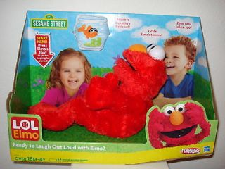 Sesame Street LAUGH OUT LOUD (LOL) ELMO Plush ANIMATED TICKLE DOLL