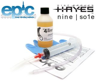 Epic Hayes 9 / Nine / Sole Bleed Kit & DOT 4 Fluid