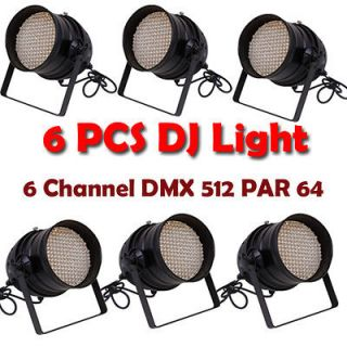 LOT DJ Lighting 177 LED LIGHTS RGBW PAR 64 DMX STAGE PARTY SHOW 6PCS