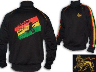 Rasta Reggae JACKET DJ Sound System Lion Of Judah Embroidered Black