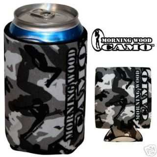 Urban Morning Wood Camo can cooler koozie Pole Dancers