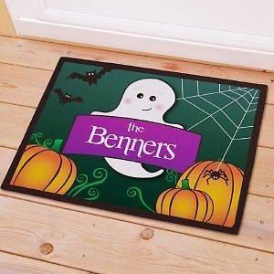 Ghost Halloween Doormat Cute Custom Fall Welcome Autumn Door Mat