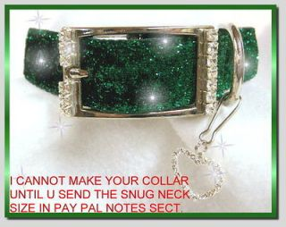 Sparklers~ Crystal Rhinestone Dog Collars   What Sparkle 1 Inch Wide