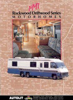1991 Rockwood Driftwood Ford Motorhome RV Brochure