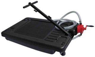 17 Gallon Low Profile Portable Truck Car Oil Drain Pan with Pump