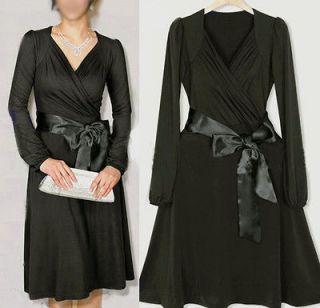 NWT elegant Black Long sleeve party dinner dress