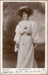 Gabrielle Ray, Edwardian Actress, Singer, Dancer, Davidson 1134, 1905