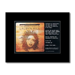 LAURYN HILL   The Miseducation of   Black Matted Mini Poster