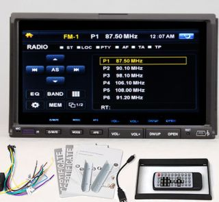 Double 2 Din In Dash Car Stereo DVD CD Player 7 Touch Screen Radio AM