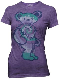 NEW The Grateful Dead Tie Dye Bear Ladies Women Jr t shirt top tee