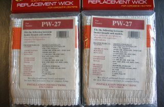 kerosene heater replacement wicks PW27 Pick a Wick NIB