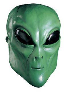 ALIEN UFO Extra Terrestrial ET Latex Full Mask Costume Prop Green