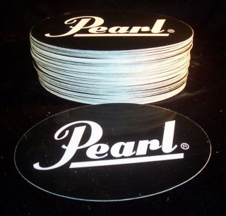 Pearl Drums Oval Sticker / Decal