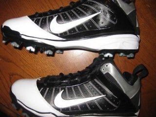 Nike Air Max Diamond Elite MCS Molded Baseball Cleats 8 Black / White