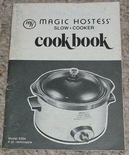 Vintage Magic Hostess Slow Cooker Cookbook Manual Recipe Book