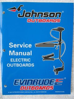 Evinrude Johnson Service Manual   Trolling Motors / Electric Outboards