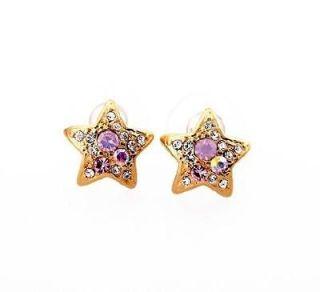 Betsey Johnson fashion crystal starfish earrings nb90