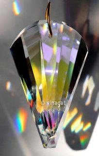 SunCatcher Wave Swirl Cut 50mm 2 inch AB Austrian Crystal Prism