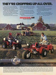 Honda Big Red Three Wheeler & FourTrax 250 Quad Four Wheeler Farm Ad