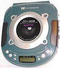 Sports White Westinghouse Portable CD Player Car Kit,AC/DC Cassette