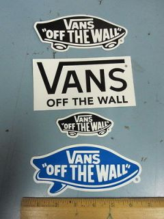 VANS surf snowboard skateboard BMX promo 4 sticker set ~NEW~!