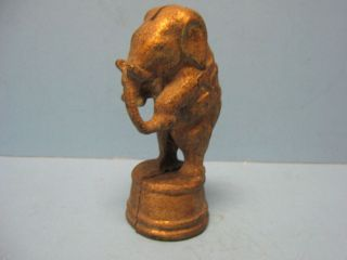 of an AC Williams Circus Elephant Cast Iron Bank Vintage 5x2 1/2