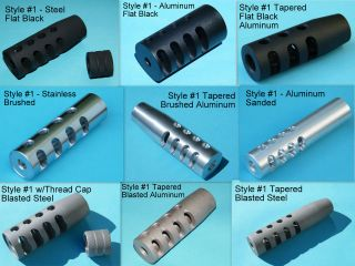Custom made Muzzle Brake for Rifle, Ruger, Glock, etc. 1/2 28 or 5/8