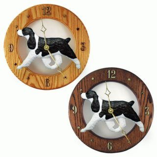 English Springer Spaniel Oak Wall Clock. In Home, Kitchen, Living Room