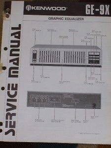 Kenwood GE 9X Graphic Equalizer Service/Parts Manual