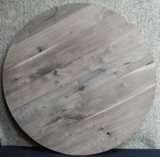 Large Round Black Walnut Custom Glue Up Dining/Coffee Table Top 10531