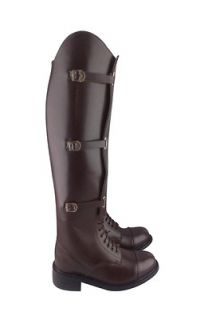 Men Field Stylish Equestrian Horse Riding Leather Boots Black Brown