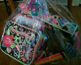 Justice bookbag, shoulder bag, w/matching lunch box, &accessories, a $