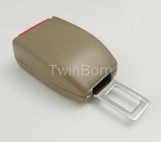 Beige Extender Extension Safety Seat Belt Buckle For Ford Nissan Honda