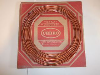 Newly listed 50 FT COIL COPPER REFRIGERATION TUBE 3/16