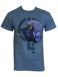 Emerson, Lake & Palmer Tarkus Logo Mens Light Blue T Shirt