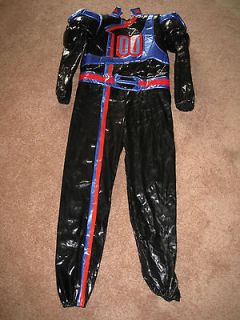 Boy Black POWER RANGERS Police SPD POLICEMAN L Large 9 10 Costume