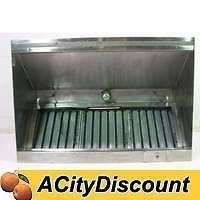USED 60 IN. COMMERCIAL KITCHEN GREASE EXHAUST VENT HOOD