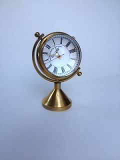 Antique Nautical Maritime Clock Decorative Reproduction Brass Clock