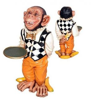 Monkey Butler Statue   Funny Monkey Butler   Monkey Butler Statue   2