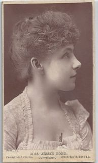 Jessie bond, Victorian actress and opera singer. Rare Victorian CDV
