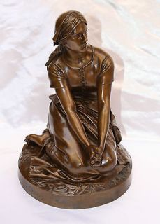 MAGNIFICENT ORIGINAL 19C FRENCH F.BARBEDIENNE BRONZE BY HENRI CHAPU