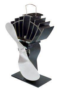 Ecofan UltrAir Model   Heat Powered Stove Fan   Gold & Nickel Blade