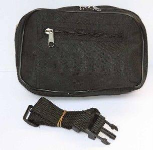 Black Fanny Waist Belt Pack Travel Bag Purse Black Tote Pouch NEW