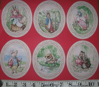 Beatrix Potter Peter Rabbit Fabric Iron On Appliques #5