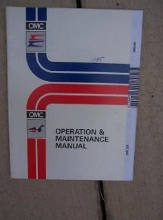 1995 OMC Evinrude Johnson Outboard Motor Operation Maintenance Manual