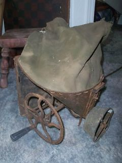 ANTIQUE HAND CRANK SEEDER  CYCLON​E SEEDER  FARM TOOL  SEED CRANKER
