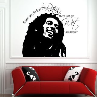 BOB MARLEY FACE WALL QUOTE Sticker Art Decal Transfer Stencil Mural