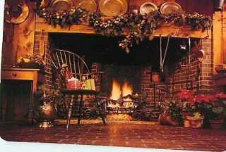 Stamp 1981 Warmest Wishes Merry Christmas Fireplace Setting